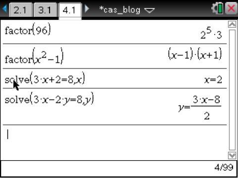CAS vs. Numeric: TI-Nspire Summer Learning (2/6)