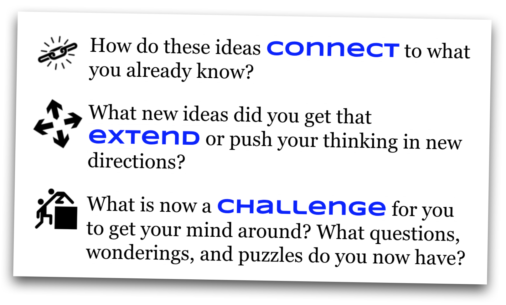 connect  extend  challenge  using digital tools  tinkering
