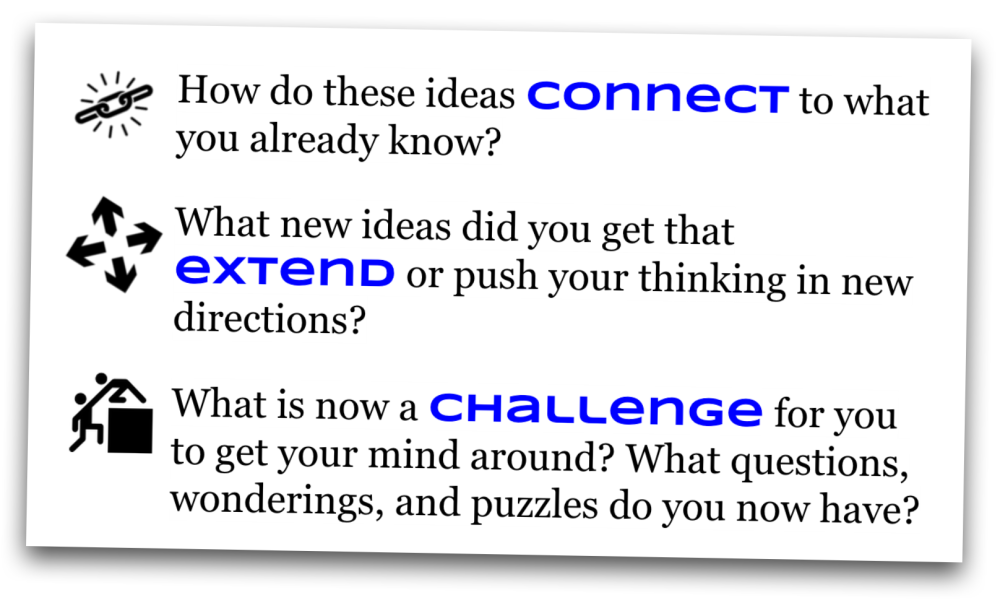 Connect, extend, challenge: using digital tools, tinkering to learn (1/4)